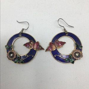 Butterfly Garden Dangling Earrings